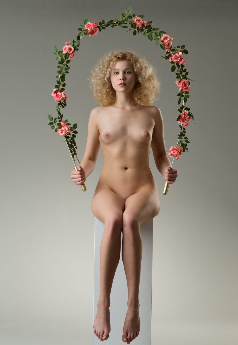 curly blond with a large wreath russian sexy girls
