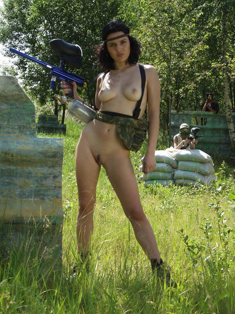 Rather valuable paintball girls naked in snow idea simply
