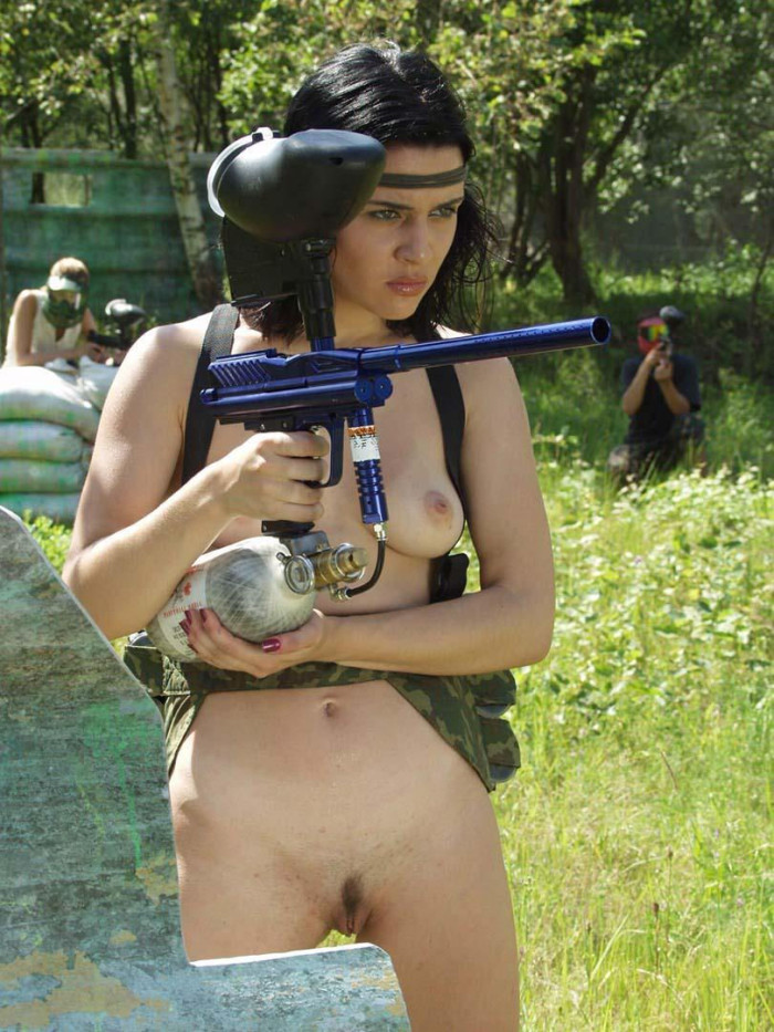 Nude women paintball really