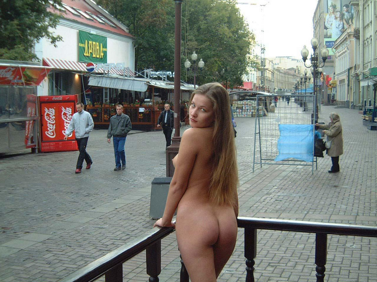 sexy nude girl on street