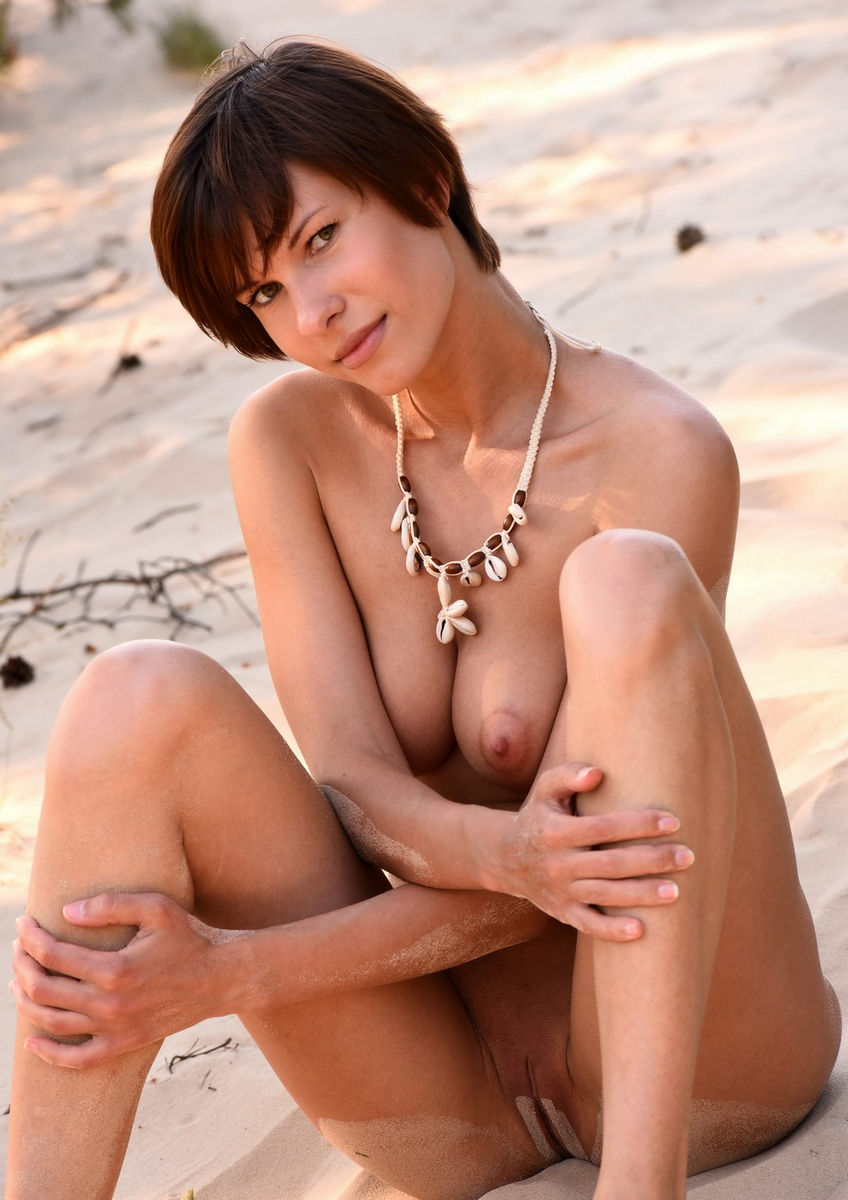 Naked females on the beach
