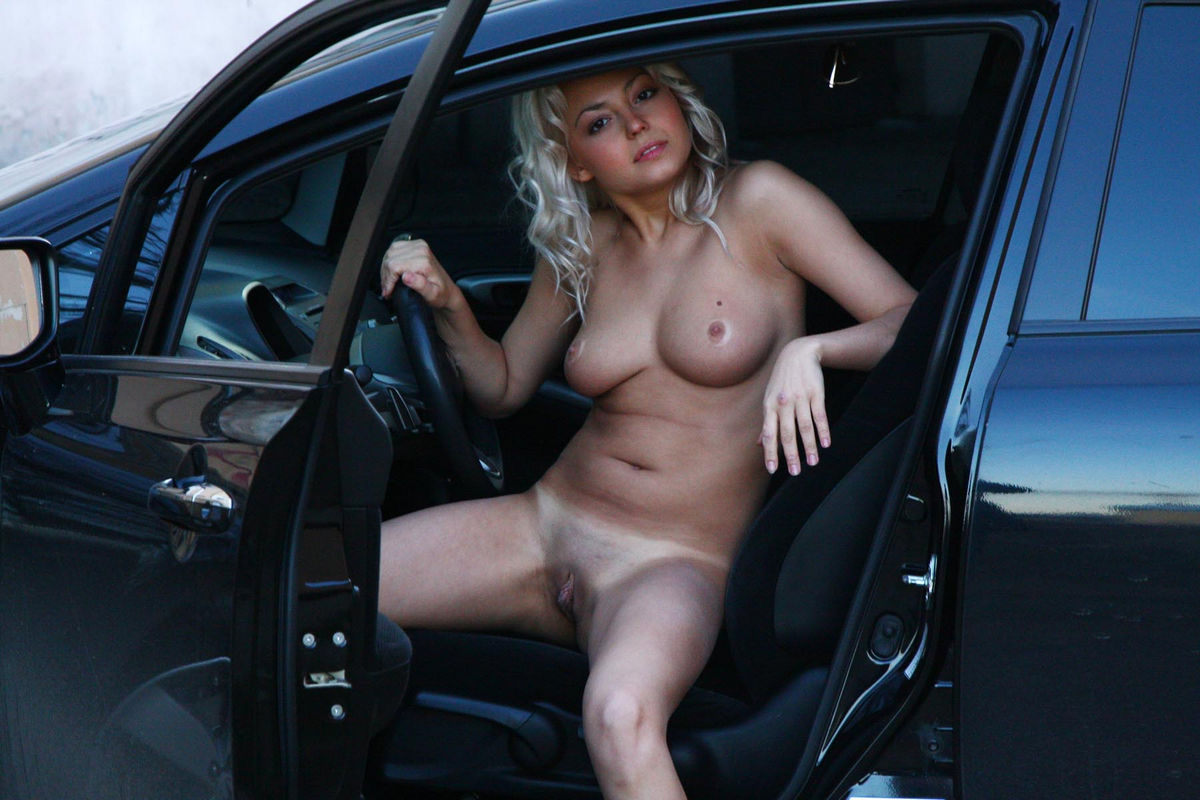 naked woman and cars