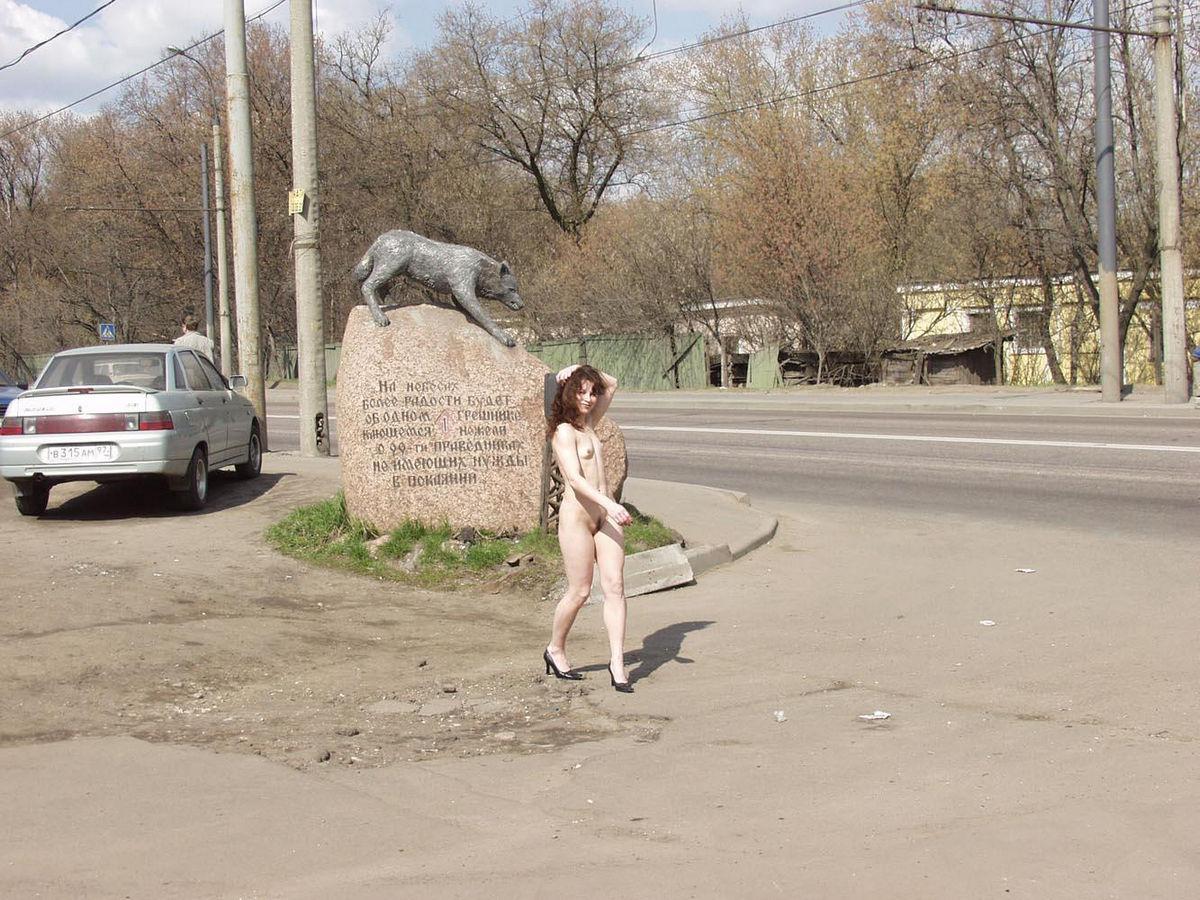 Naked Flat Girl At Bikers Bar Entrance  Russian Sexy Girls-5020