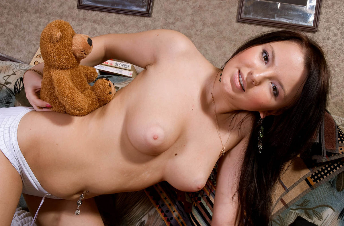 Brunette Snejana Posing With Plush Bear  Russian Sexy Girls-7070