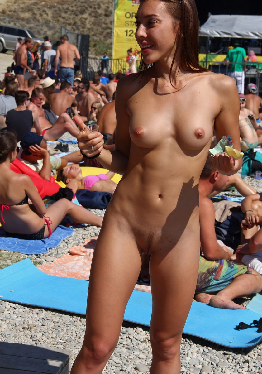 Nude In Public Beach