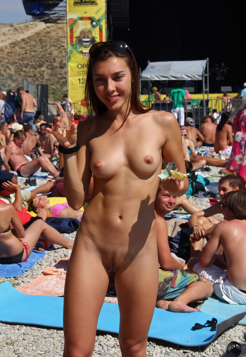 from Augustine naked babe in a bar