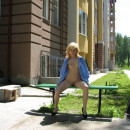 Blonde flasher from Siberia