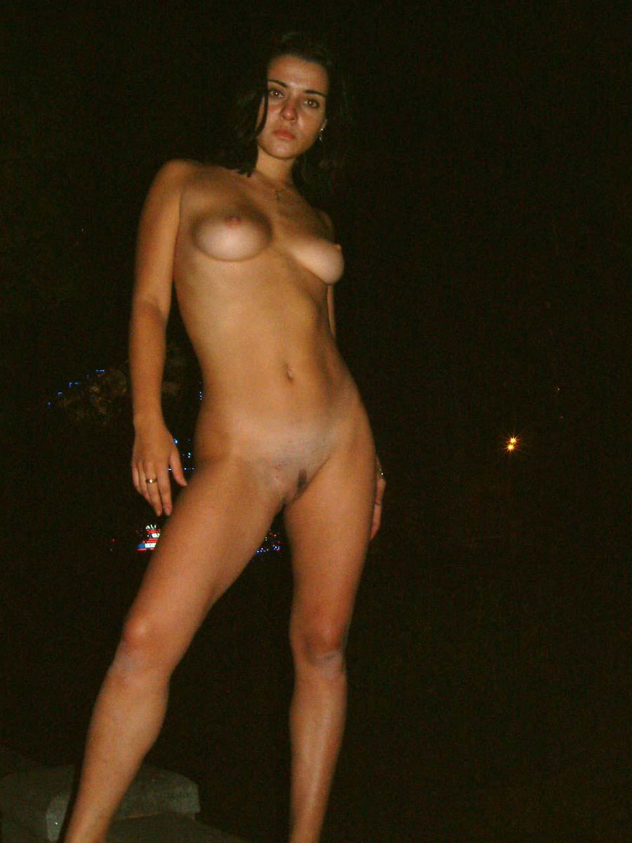 Naked Brunette At Moscow Summer Night  Russian Sexy Girls-2341