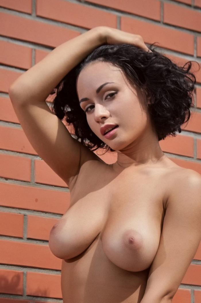 Busty brunette masturbating and fucked Redtube Free Big