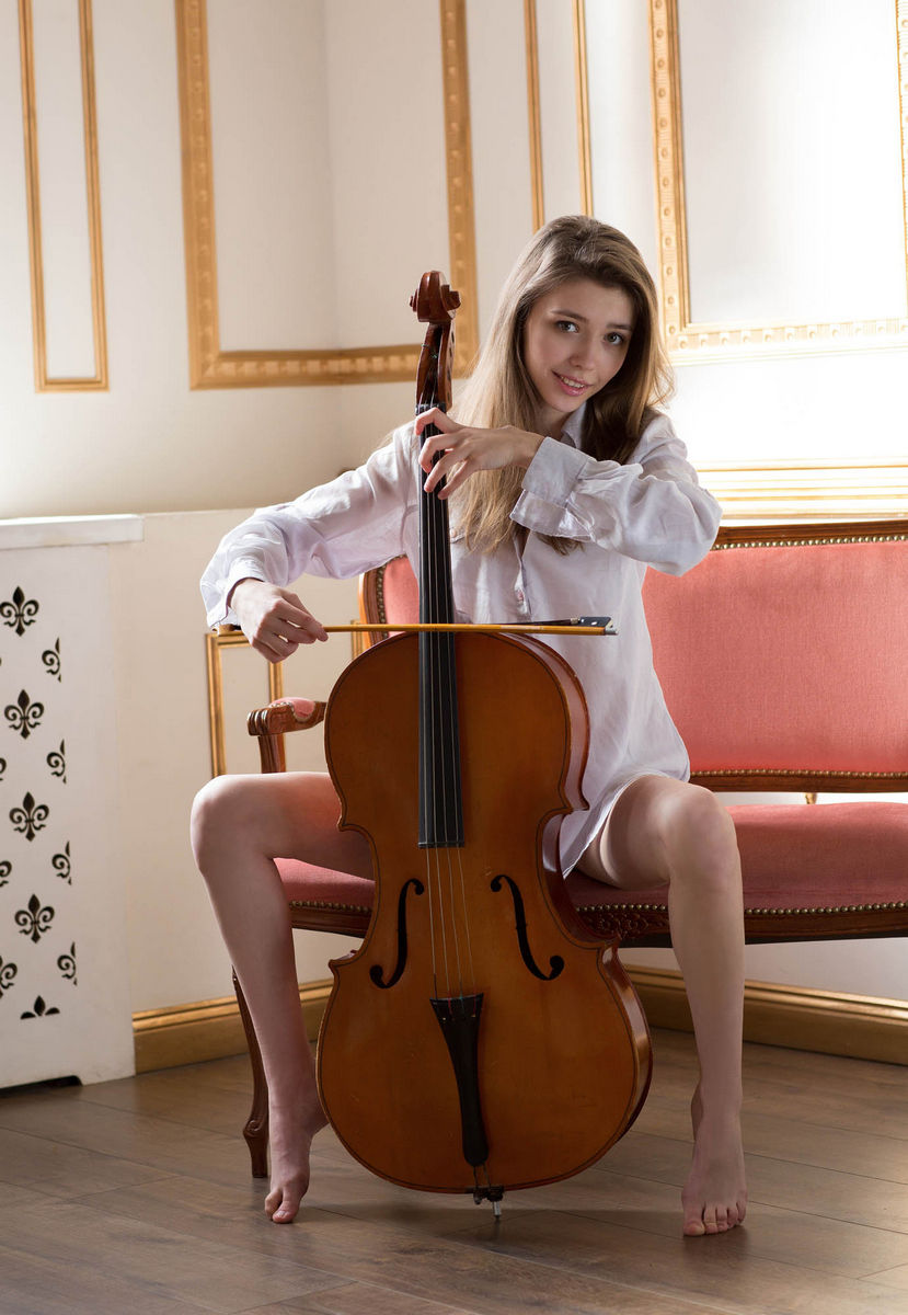 Hot Teen Cellist Milla W With Big Soft Boobs  Russian -1838
