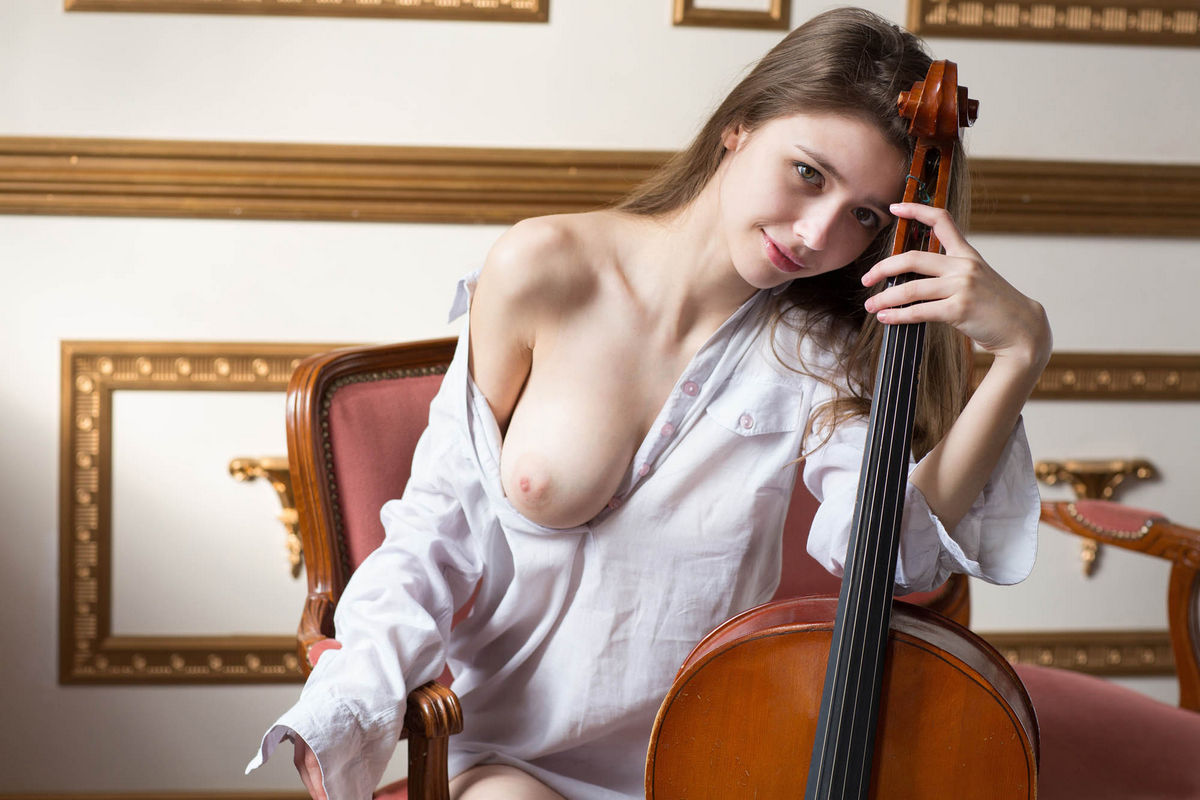 Hot Teen Cellist Milla W With Big Soft Boobs  Russian -6369