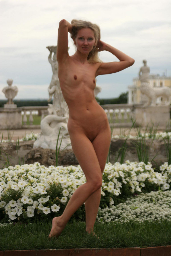Skinny Blonde Naked At An Old Royal Manor  Russian Sexy Girls-1310
