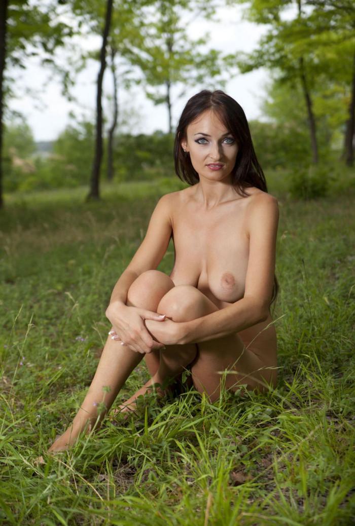 Milf in the woods