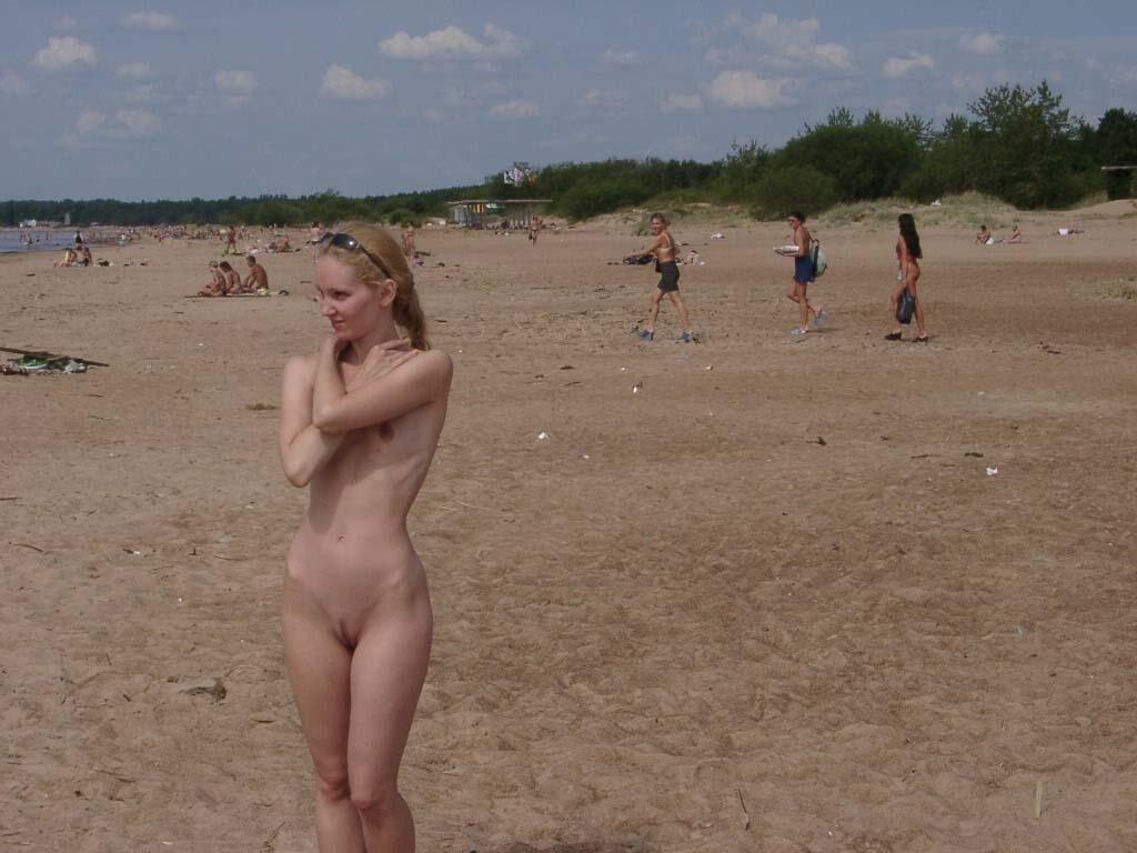 blonde beach woman naked
