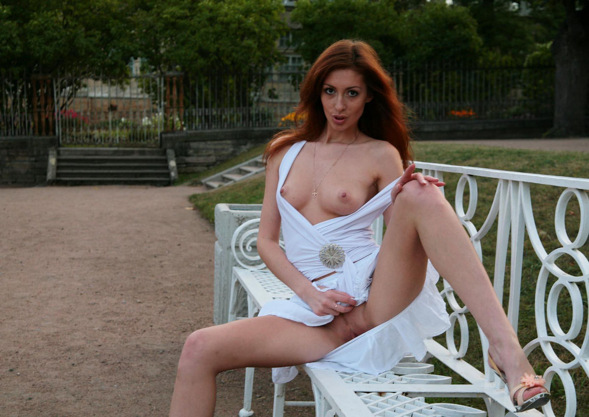 Yasbeck pussy redhead in park pussy bailon completely