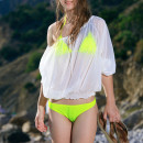 Izabel A's refreshing beauty coupled by her enganging smile stands out in this beach photo shoot