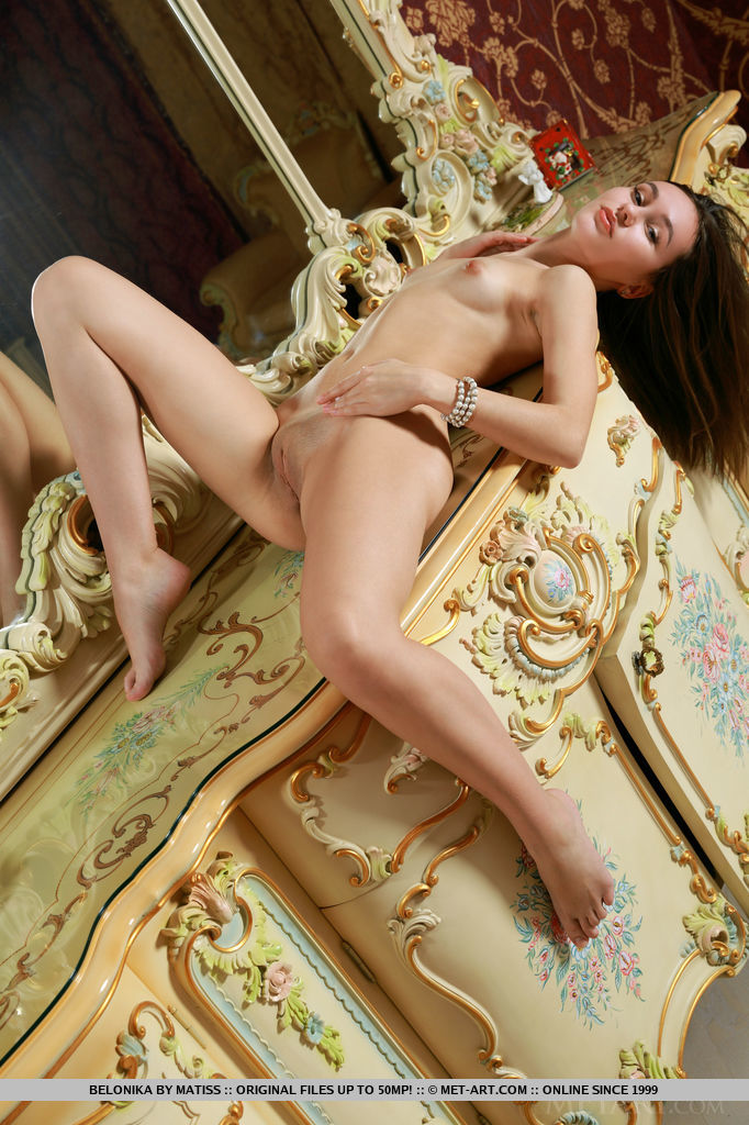 Belonika exudes a co-ed charm with the right mix of playful and confidence as she teases in front of the camera