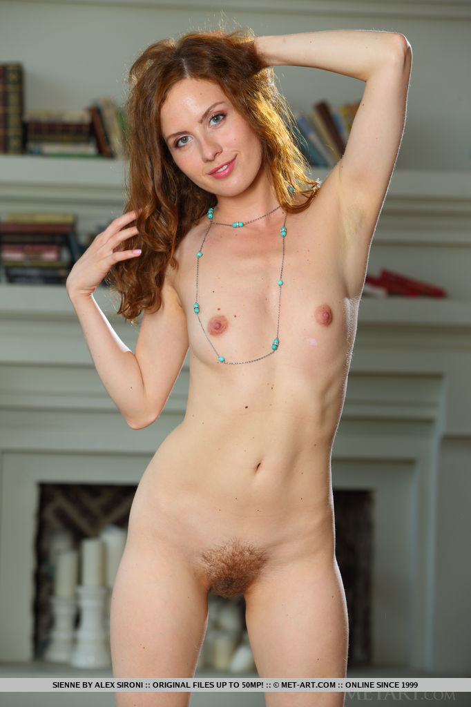 Sienne strips her tiny dress as she bares her petite body with unshaven pussy.