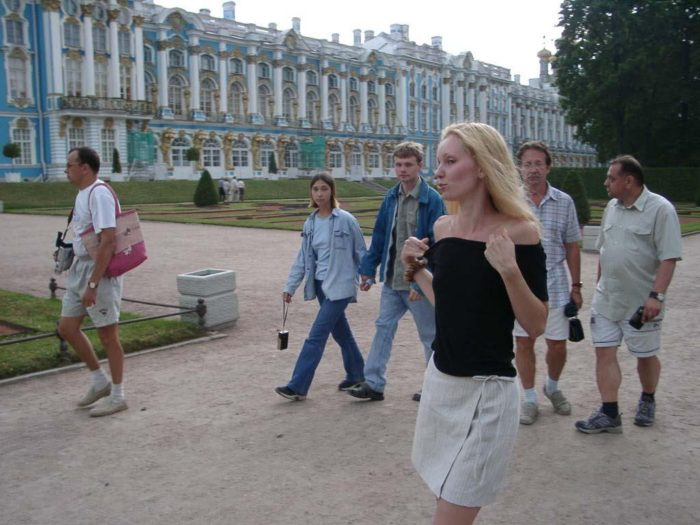 Crazy russian amateur exhibitionist flashes at very public placess