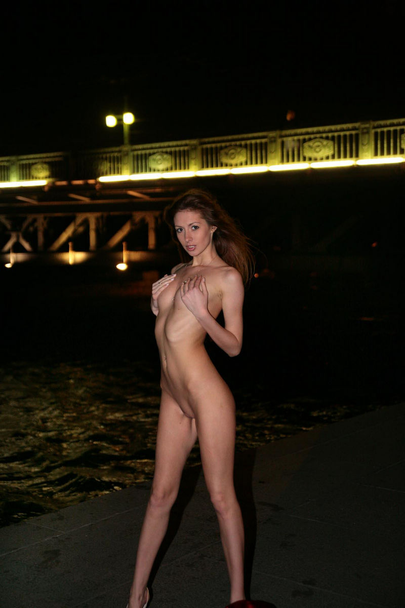 highrise naked redhead