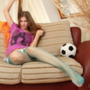 Russian teen Hanna A undressing at home