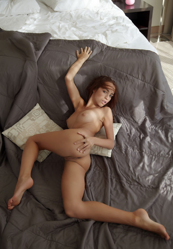Magnificent babe Milana G in bed