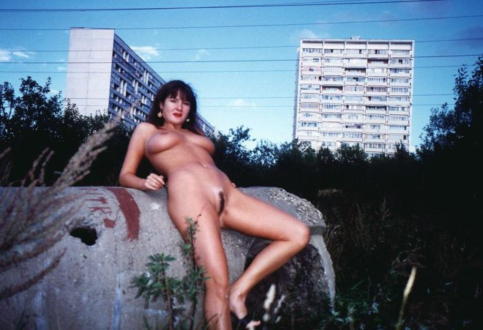 Old photos of russian amateur poses near power station