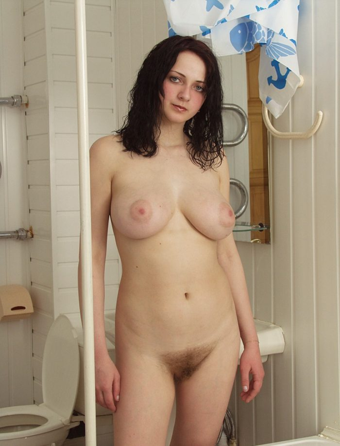 Ordinar russian brunette, who does not like to shave