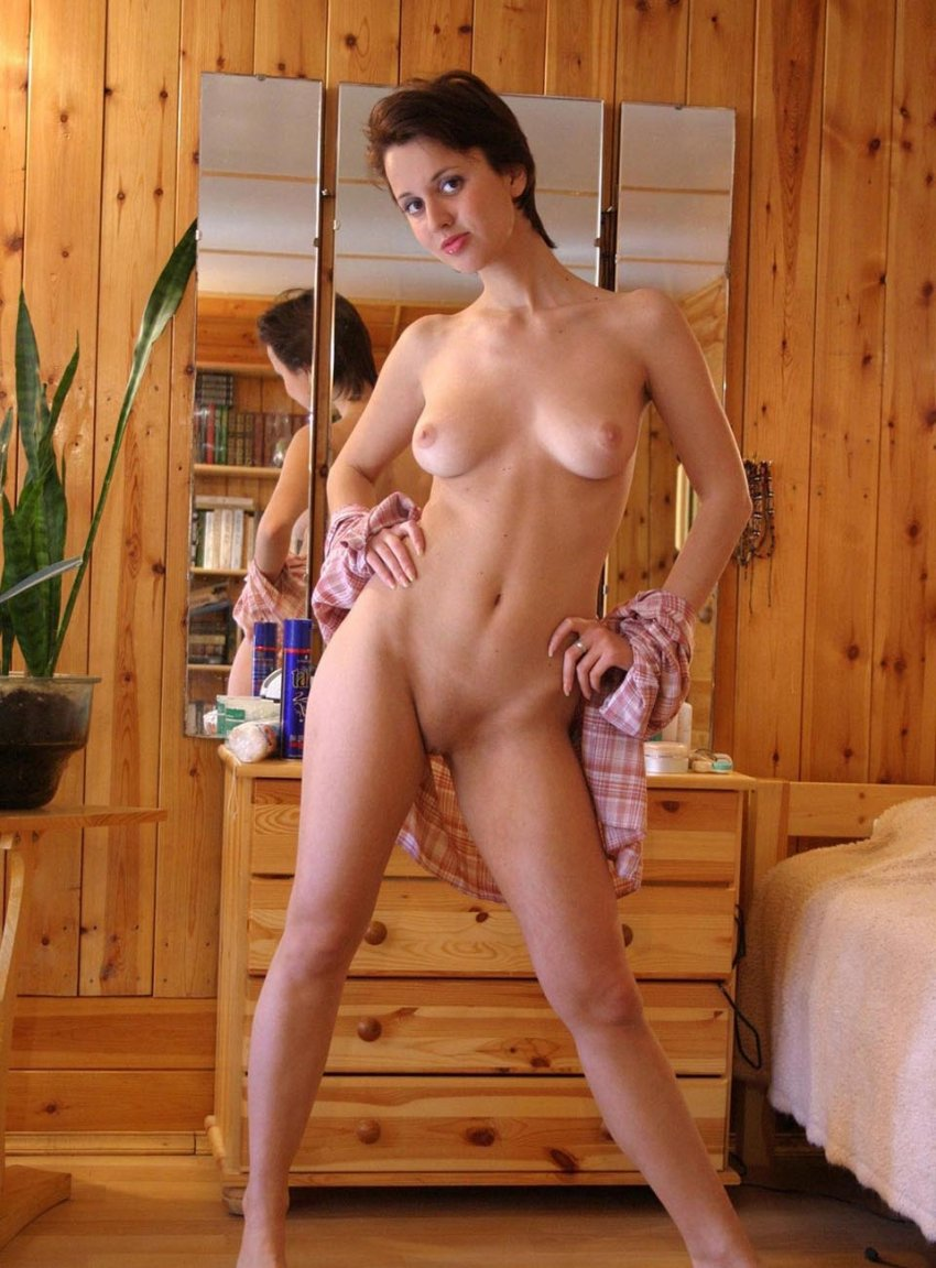 Short nude brunette think, that