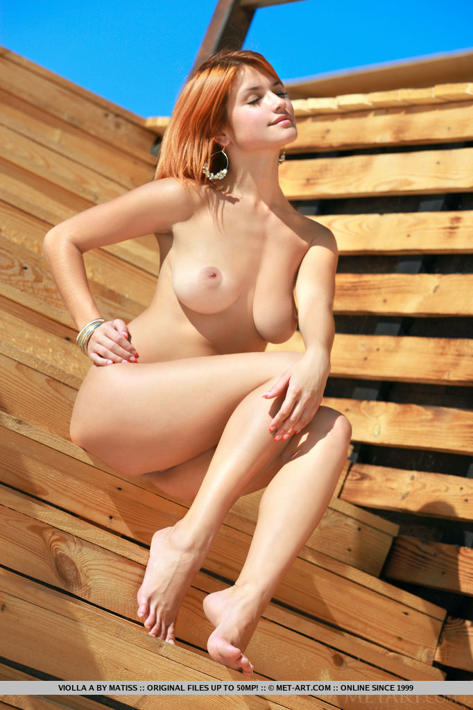 Violla A poses and flaunts outdoors with her sensual and tempting poses that compliments her ultra-feminine body.
