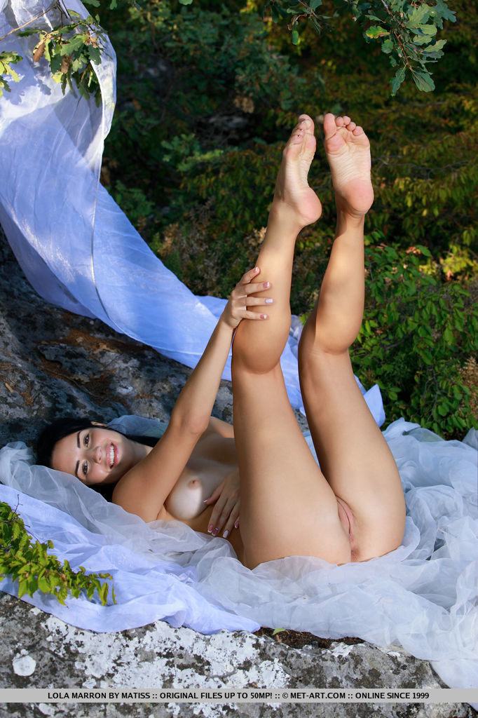 Lola Marron bares her gorgeous tits and sweet pussy as she poses in the outdoors.