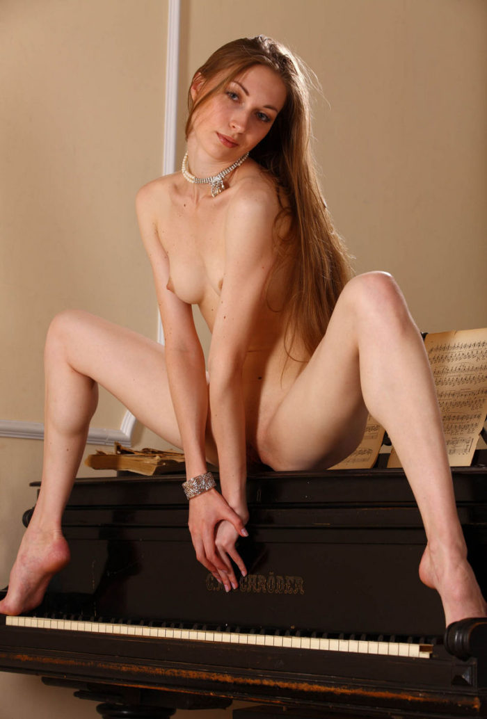 Long-haired Annett A with slim body