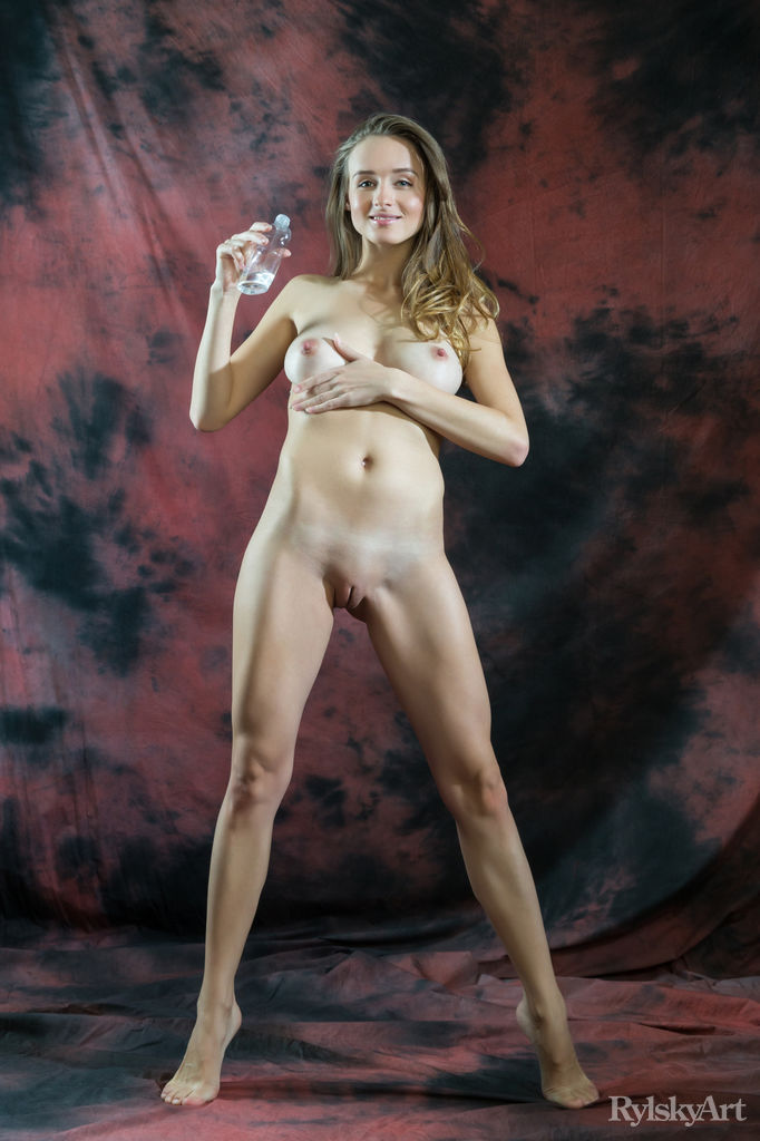 Leggy girl with hard nipples