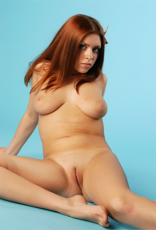 Redhead with natural body and soft boobs