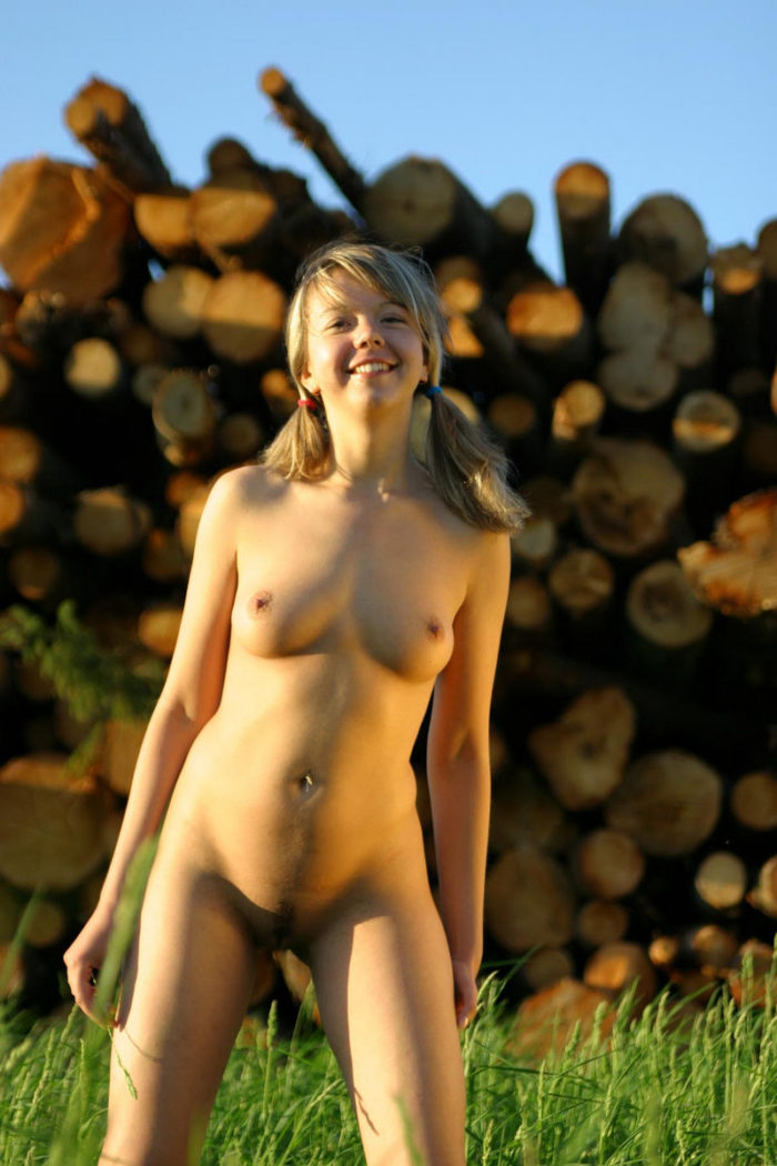 Sexy Teen Alena T By The Logs  Russian Sexy Girls-2359