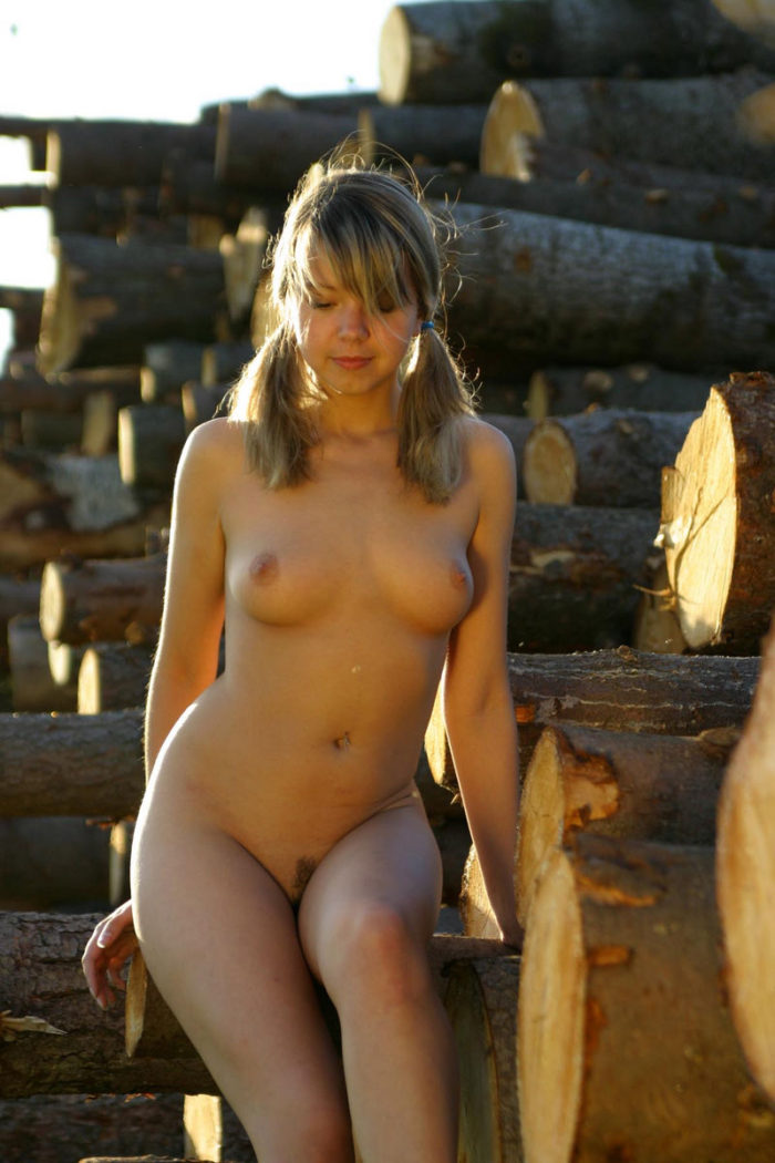 Sexy Teen Alena T By The Logs  Russian Sexy Girls-2630