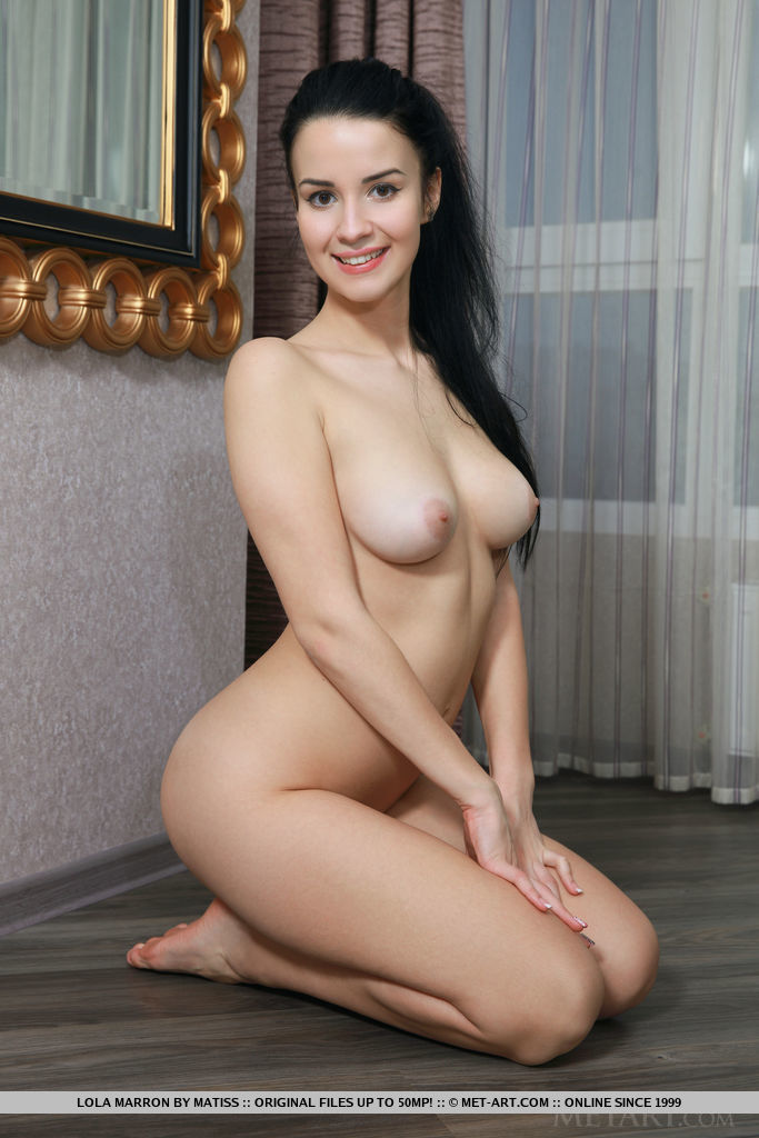 Beautiful Lola Marron shows off her gorgeous body and pink, puffy tits as she poses by the mirror.