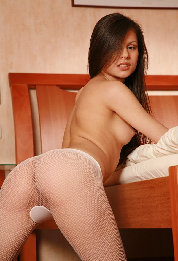 Young brunette Yolka A with very sweet smile