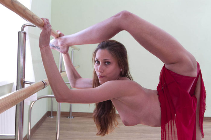 Beautiful gymnast girl with really sexy body