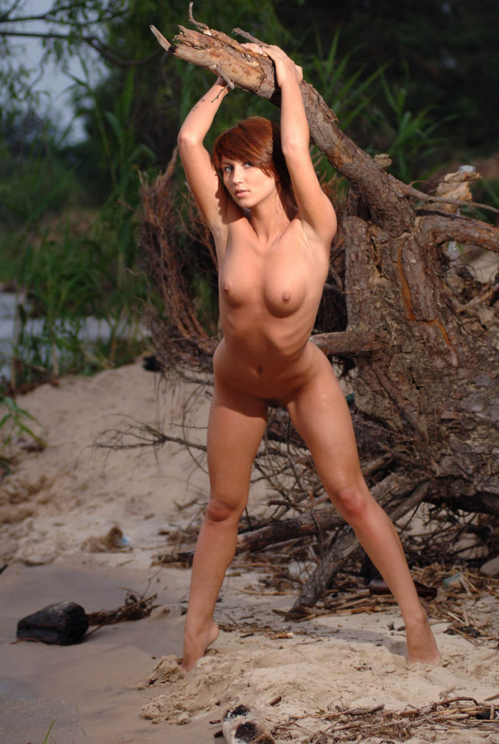 Sexiest babe Katrin B on the sand beach