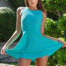 Top model Melena A strips her blue dress baring her smoking hot body.