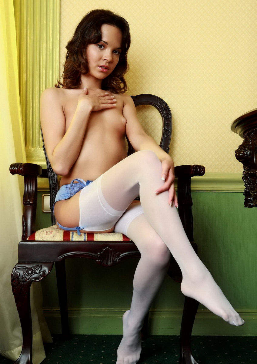 Share your hot babe in white nylons dare once