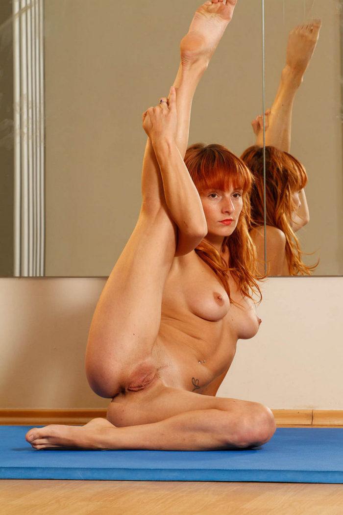 gymnastic women with big