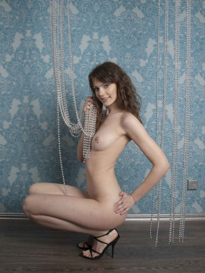 Russian girl loves to show her sexy body with a smile