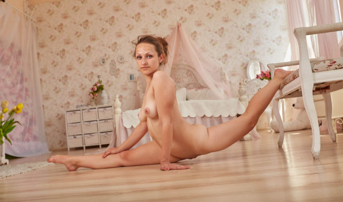Russian gymnast in unbelievable poses