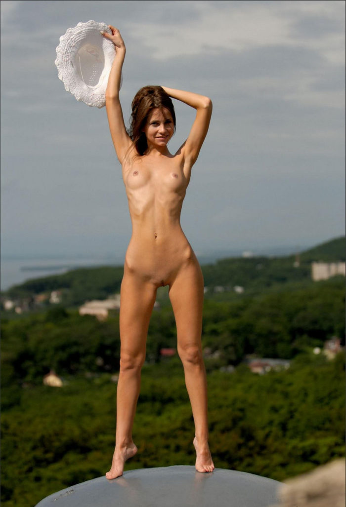 The most perfect russian babe Phiby shows her body outdoors