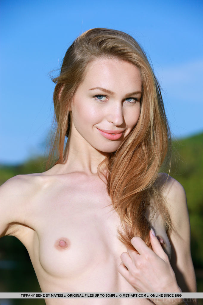 Newcomer Tiffany Bene bares her sexy, slender body with creamy white skin as she delightfully poses in the outdoors.