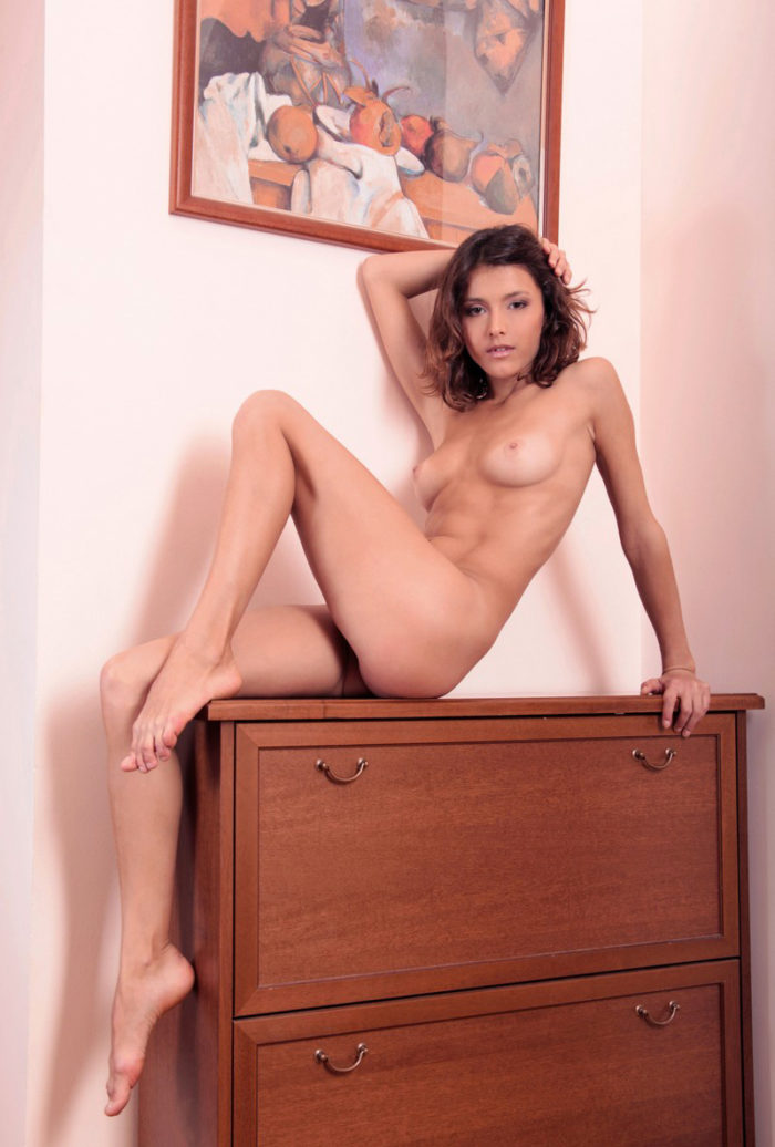 Lovely girl Divina A posing at home
