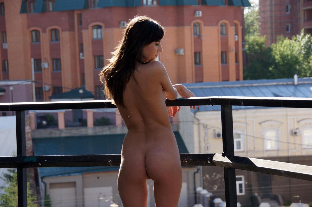 Teen naked in morning