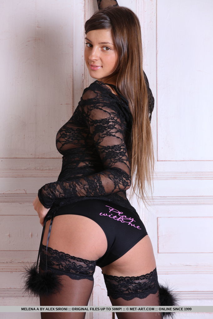 Melena A bares her sexy lingerie as she sensually strips in front of the camera.
